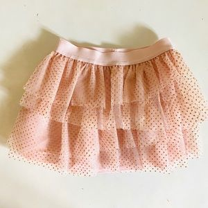 Healthtex Toddler Girl Light Pink Gold Dot Tutu 2T
